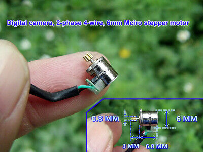 3V Micro 2-Phase 4-Wire 6MM Stepping Stepper Motor with Copper Gear for Cameras