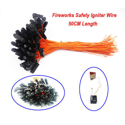 50 pcs 19.68in Safety Igniter Match Wire for Fireworks Firing System Electric