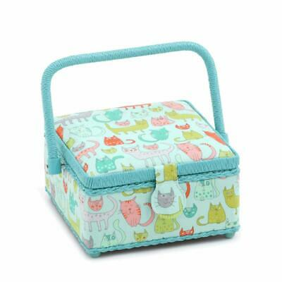HobbyGift Square Sewing Box (S) - Crazy Cats
