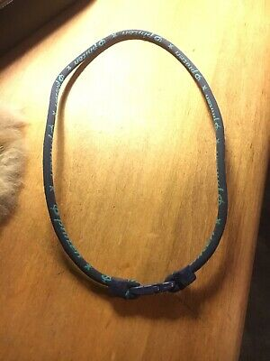 Phiten Classic Titanium Single Strand Necklace 16 Inch Blue *USED*
