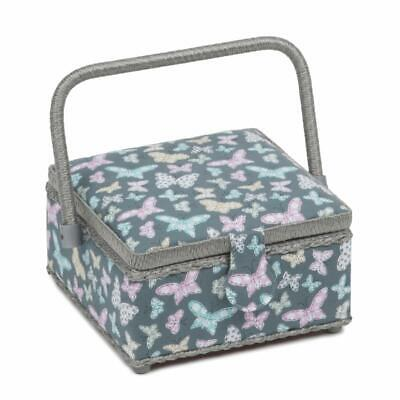 HobbyGift Square Sewing Box (S) - Stitched Butterflies