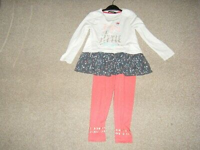 Girls Natural Top and Leggings Age 3-4 Years from George