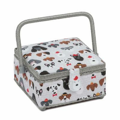 HobbyGift Square Sewing Box (S) - Classy Canines