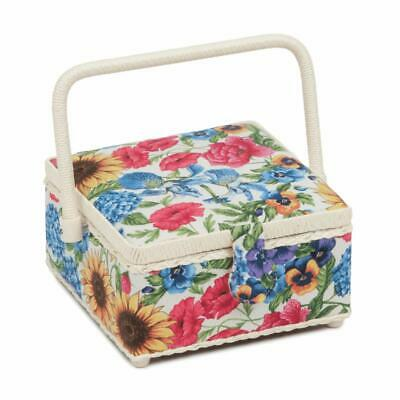 HobbyGift Square Sewing Box (S) - Garden Floral