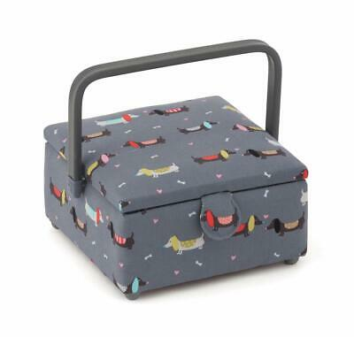 HobbyGift Square Sewing Box (S) - Puppy Love