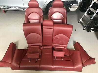 BMW 3 Series E46 M3 Coupe Imola Red leather Interior Seats & Doorcards