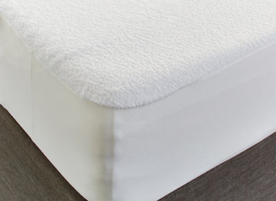 Non Noisy Waterproof Terry Towel Mattress Protector Cot Bed Size 70 X 140 Cm