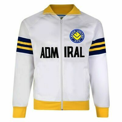 Leeds United Fc Mens 1978 Admiral Retro Track Jacket - All Sizes Available