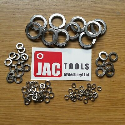 Spring Lock Washers Rect Single Coil Bzp M4 M5 M6 M8 M10 M12 M16 M20 M24 Sizes