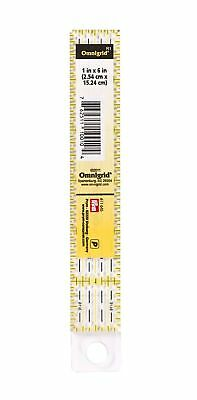 "1"" x 6"" UNIVERSAL RULER WITH INCH SCALE - PRYM OMNIGRID - PATCHWORK QUILTING"
