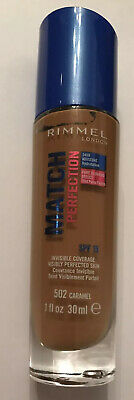 rimmel match perfection foundation - 502 caramel - New And Sealed - 30ML
