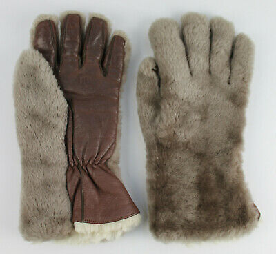 Vintage 1970s Fownes Worcester Womens Gloves. Light Brown. Small. Fur Lined.