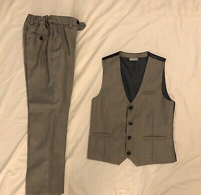 Next Boys Waistcoat Trousers And Shirt Set 9years Old. Boys