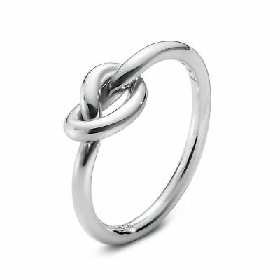 New!  Modern Georg Jensen Sterling Silver Archive Ring # A44B Love Knot Size 5