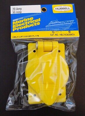 HUBBELL ~ Marine Lift Cover Plate ~ HBL74CM25WOA ~ 20 Amp-30 Amp ~ NEW