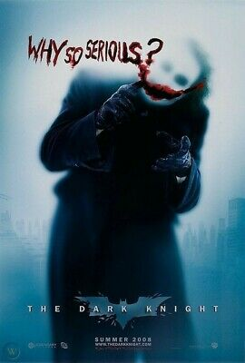 DARK KNIGHT MOVIE POSTER 2-Sided 'WHY SO SERIOUS?' Advance Style 27x40 Fold/Bend