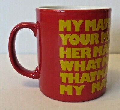 Mug Marmite My Mate Whose Mate Your Mate Yellow Red Coloproll England Unused