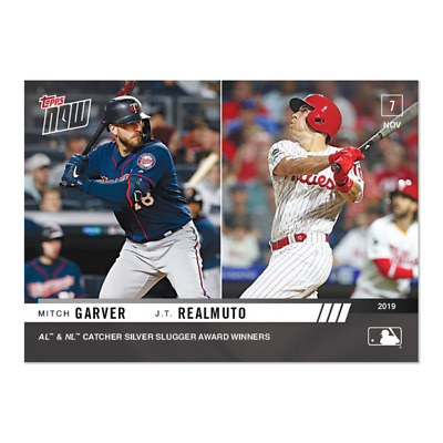 2019 Topps NOW OS-36 Mitch Garver Twins JT Realmuto Phillies [11.7.19]