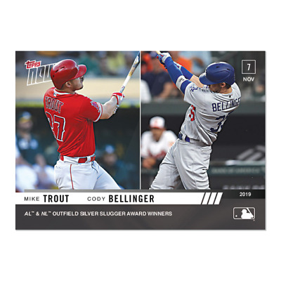 2019 Topps NOW OS-41 Mike Trout Angels Cody Bellinger Dodgers [11.7.19]