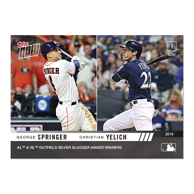 2019 Topps NOW OS-42 George Springer Astros Christian Yelich Brewers [11.7.19]