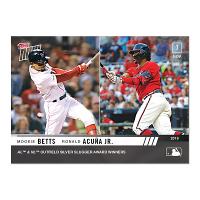 2019 Topps NOW OS-43 Mookie Betts Red Sox Ronald Acuna Jr Braves [11.7.19]