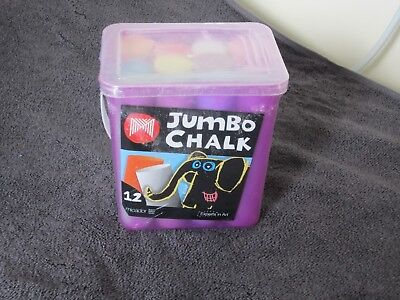 Jumbo Chalk Tub  - 12 Pieces.