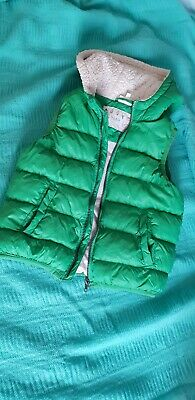 Seed hoodie Puffer Vest VGUC size 6 boys or girls Green