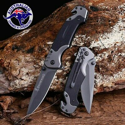 Browning Knife Folding Opening Pocket Knife Hunting Camping Survival Fishing EDC