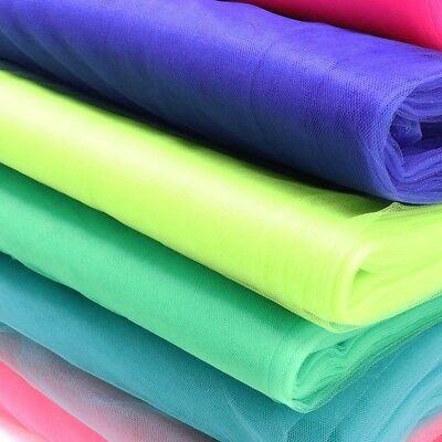 "54""x40yds Bolt Tulle Tutu Fabric Nylon Pew Bow Bridal Favor Party Wedding Decor"
