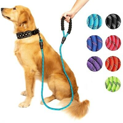 5ft Dog Lead Rope Reflective Heavy Duty Standard Braided for Large Dogs Walking