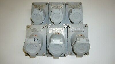 Lot of 6 Appleton ECSK2023 Explosion Proof Ground Fault Receptacle