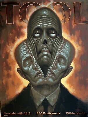 Tool poster pittsburgh foil 2019 tour limited edition chet zar