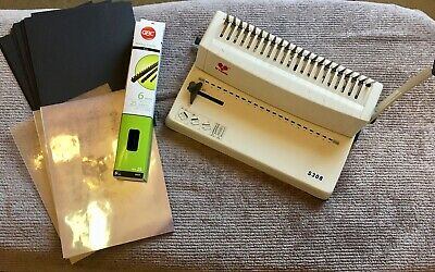 Yibo S308 comb binding machine - MINT CONDITION  WITH FREE MATERIALS