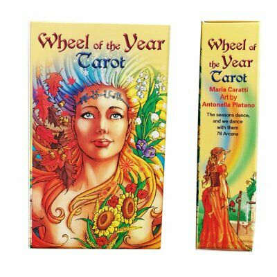 78Pcs Full Color Wheel of the Year Tarot Card Game Deck Cards Fortune Telling