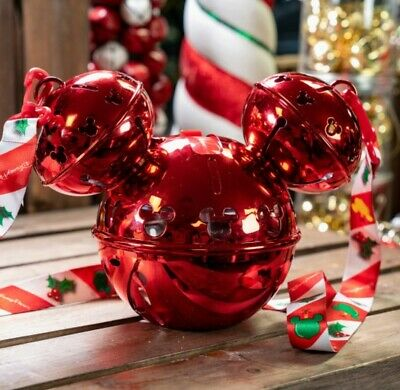 DisneyParks 2019 Christmas Mickey Jingle Ornament  Sipper With Lights NEW +Maps