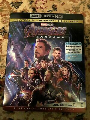 Avengers: Endgame (4K UHD, Blu-ray, Digital) Brand New w/slipcover
