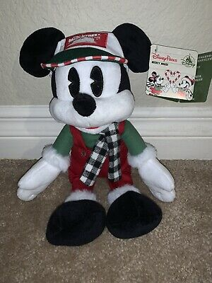 Disney  Parks Mickey Mouse Holiday 2019 Plush Doll - Nwt