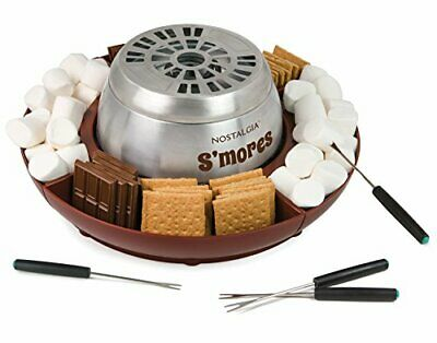 Nostalgia LSM400 Indoor Electric Stainless Steel S'mores Maker with 4 standart