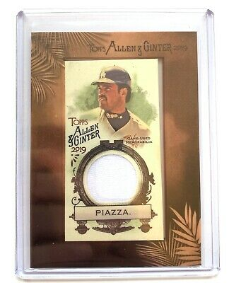 2019 Topps Allen & Ginter MIKE PIAZZA Jersey Patch Relic Baseball Card #MFR-MP