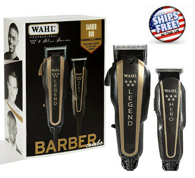 Wahl Professional Barber Machine Hair Cutting Kit Great Trimmer clippers Set