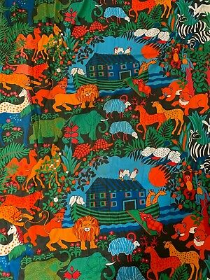 """Vintage Iluka """"Two by Two"""" Curtain 1970s Fabric"""