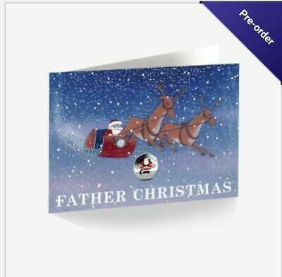 Father Christmas 50p Coin - 2019 Coloured Cupro Nickel Diamond Finish *in stock*