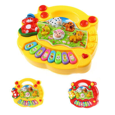Cute Toys Kids Musical Keyboard Educational Animal Farm Piano Baby Toy Cool Gift
