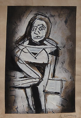 Offering Unique painting Abstract Expressive art signed, Willem de Kooning w COA
