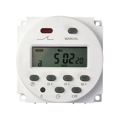 Function CN101 16A DC 12V Digital LCD Power Programmable Timer Time Relay Switch
