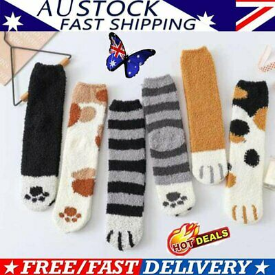 Winter Cat Claws Cute Thick Warm Sleep Floor Socks AU STOCK