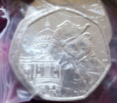 Paddington Bear At St Paul's Cathedral 50p Coins 2019~Full Bag 20~Uncirculated