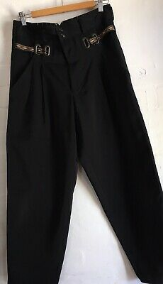 MATSUDA Nicole Tokyo High Waist Tapered Pants Size L (12) Black Immaculate Cond