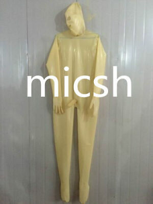 Hot Sale Latex Catsuit Durchsichtig Rubber Gummi Mask Bodysuit Cosplay S-XXL