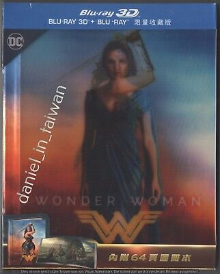Wonder Woman 3D & 2D (2017) TAIWAN BLU RAY DIGIBOOK w/ LENTICULAR COVER